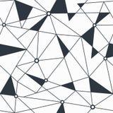 Modèle sans couture géométrique de triangle monochrome Image stock