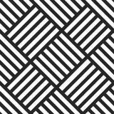 Modèle sans couture géométrique de vecteur Fond rayé noir et blanc illustration stock
