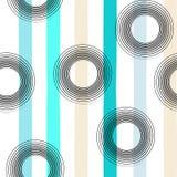 Modèle sans couture géométrique de vecteur mignon Points et rayures de polka Rappes de balai Texture grunge tirée par la main Rés Images stock