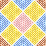 Modèle sans couture géométrique de vecteur de résumé des briques Tuiles présentées dans le modèle de tresse, places des rectangle illustration de vecteur
