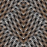 Modèle sans couture géométrique de vecteur de vagues St modelé par Ornamental illustration stock