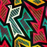 Modèle sans couture géométrique lumineux Images libres de droits