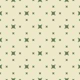 Modèle sans couture géométrique minimaliste de vecteur vert avec de petites formes carrées illustration stock