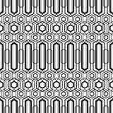 Modèle sans couture géométrique moderne de vecteur Ensemble de milieux sans couture noirs et blancs illustration de vecteur