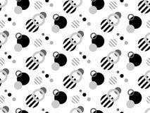 Modèle sans couture géométrique moderne de vecteur TEXTURE DE CONCEPTION DE COUVERTURE CONTOUR ET FORME RAYÉE Images stock