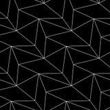 Modèle sans couture géométrique monochrome noir et blanc polygonal illustration de vecteur