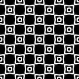 Modèle sans couture GÉOMÉTRIQUE noir à l'arrière-plan blanc Photos stock