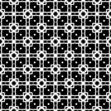 Modèle sans couture GÉOMÉTRIQUE noir à l'arrière-plan blanc Photo stock