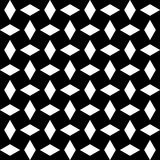 Modèle sans couture GÉOMÉTRIQUE noir à l'arrière-plan blanc Images libres de droits