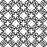 Modèle sans couture GÉOMÉTRIQUE noir à l'arrière-plan blanc Photographie stock libre de droits