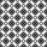 Modèle sans couture GÉOMÉTRIQUE noir à l'arrière-plan blanc Image stock