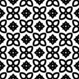 Modèle sans couture GÉOMÉTRIQUE noir à l'arrière-plan blanc Images stock