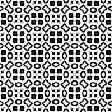 Modèle sans couture GÉOMÉTRIQUE noir à l'arrière-plan blanc Photo libre de droits