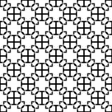 Modèle sans couture GÉOMÉTRIQUE noir à l'arrière-plan blanc illustration stock