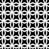 Modèle sans couture géométrique noir et blanc Image stock