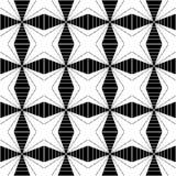 Modèle sans couture géométrique noir et blanc, fond abstrait illustration stock