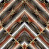 Modèle sans couture géométrique rayé moderne Noir abstrait de vecteur Photo libre de droits