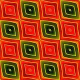 Modèle sans couture géométrique rouge d'Ikat Photo stock