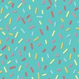 Modèle sans couture géométrique simple avec de petites lignes et ombres Le graphique raye la texture Crème de beignet Photographie stock