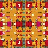 Modèle sans couture géométrique tribal multicolore Images stock