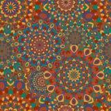Modèle sans couture gitan Texture avec rond coloré Images stock