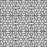 Modèle sans couture gracieux avec courbes et étoiles six-aiguës illustration libre de droits