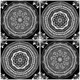 Modèle sans couture graphique de Mandala Ornaments Images libres de droits