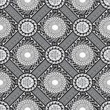 Modèle sans couture grec géométrique noir et blanc Vecteur moderne illustration stock