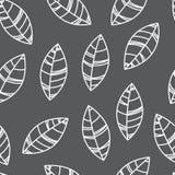 Modèle sans couture gris de feuilles Illustration pour la copie, carte, papier peint, bannière illustration stock