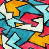 Modèle sans couture grunge coloré de graffiti Image libre de droits