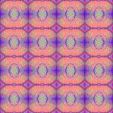 Modèle sans couture grunge d'art abstrait Texture de tissu des formes géométriques colorées Belle carte abstraite Image libre de droits