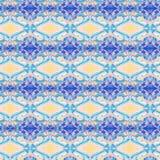 Modèle sans couture grunge d'art abstrait Texture de tissu des formes géométriques colorées Belle carte abstraite Images stock