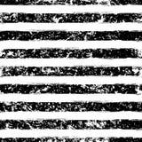 Modèle sans couture grunge de vecteur de rayure abstraite d'aquarelle noir Photos stock