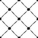 Modèle sans couture grunge des rayures et du point de polka diagonaux noirs Image stock