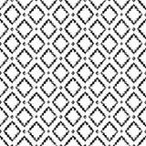 Modèle sans couture grunge ethnique âgé noir et blanc de losange arabe géométrique, vecteur Photographie stock