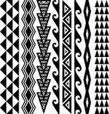 Modèle sans couture hawaïen de tatouage illustration libre de droits