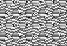 Modèle sans couture hexagonal de vecteur de fibre tissée Photographie stock libre de droits