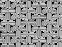 Modèle sans couture hexagonal de vecteur de fibre tressée Images libres de droits