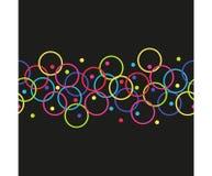Modèle sans couture horizontal de vecteur des cercles illustration stock