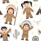 Modèle sans couture indigène de thanksgiving Images stock