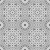Modèle sans couture islamique de vecteur Ornements géométriques blancs basés sur l'art arabe traditionnel Mosaïque musulmane orie illustration libre de droits
