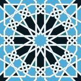 Modèle sans couture islamique Ornements géométriques orientaux, art arabe traditionnel Mosaïque musulmane Élément de décoration d Images stock