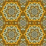 Modèle sans couture jaune coloré mignon de mandala Photo stock