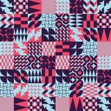 Modèle sans couture linéaire de tuiles géométriques Photos libres de droits