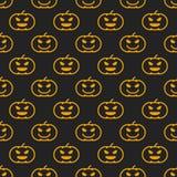 Modèle sans couture linéaire différent de Halloween avec la sorcière Photo libre de droits