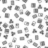 Modèle sans couture lu de livre de bibliothèque de littérature illustration stock