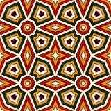 Modèle sans couture lumineux avec l'ornement géométrique dans des couleurs traditionnelles de Noël Motifs ethniques et tribals Images libres de droits