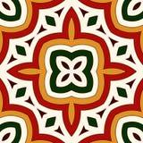 Modèle sans couture lumineux avec l'ornement géométrique dans des couleurs traditionnelles de Noël Motifs ethniques et tribals Photographie stock