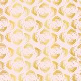 Modèle sans couture Luxe de vecteur de Rose Gold Foil Leaf Swirl, damassé dessinée illustration de vecteur