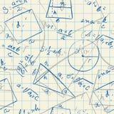 Modèle sans couture mathématique Images stock